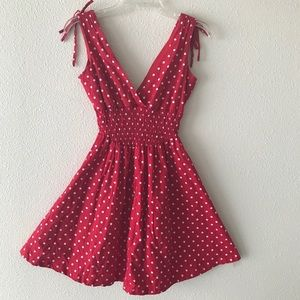 My michelle red polka dot dress size small